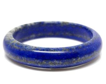 Lapis Bangle Bracelet Blue