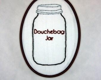 New Girl Hoop Art- Schmidt - Douchebag Jar - Jessica Day - 5 x 3 1/2 inch
