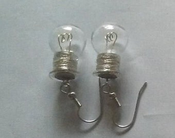 Edison Lamp Earrings - Round