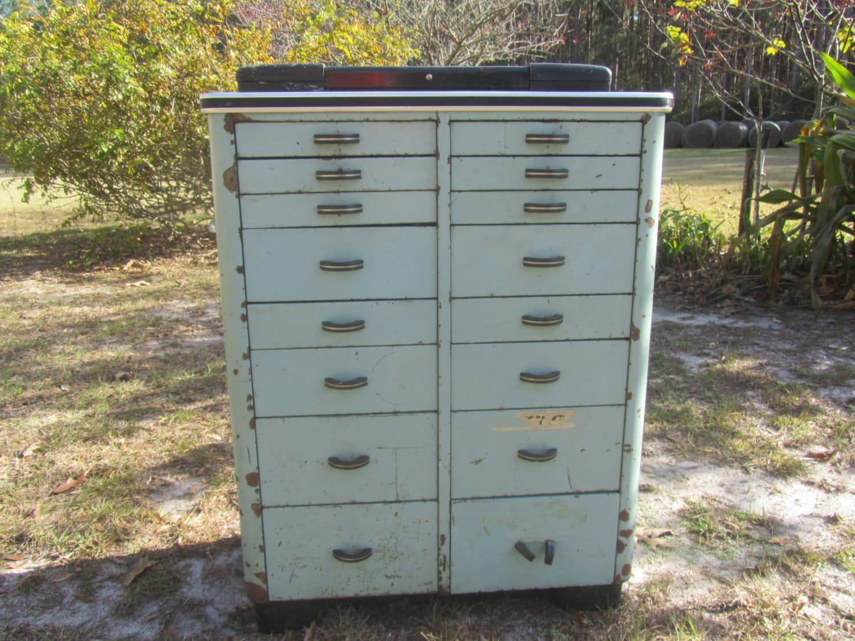 Antique Metal Dental Cabinet Dental Cabinet Medical Cabinet Vintage Cabinet Metal Multi