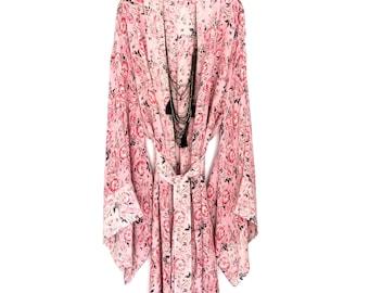 silk kimono robe, silk robe, kimono robe, floral silk robe, silk kimono, long silk robe, silk kimono jacket, bridesmaid robe, brides robe