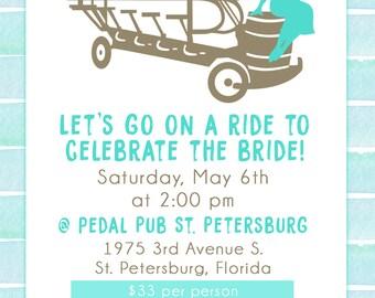 Bride's Last Ride Bachelorette Party Invitation