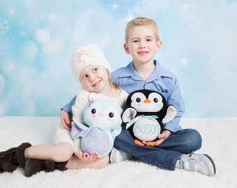 Personalized Penguin Stuffie - Stuffed animal - Monogram Penguin- Plush Penguin - Personalized Baby Gift - Baby Shower gift - New Baby