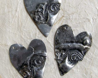 Tin stamped heart