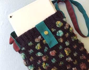 KnittedPurse IpadBag Berry Bobble Bag ShoulderBag Designer Bag Textured Bag