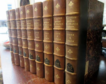 Leather Bound Set of Antique Books on French History.