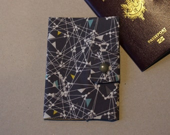 Protects Passport pattern abstract with closure by pressure