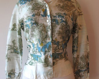 1950s silk Blouse