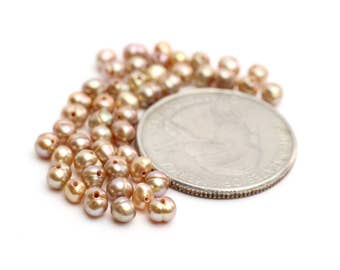Tiny Freshwater Pearls Champagne Pearls 4mm 12pcs