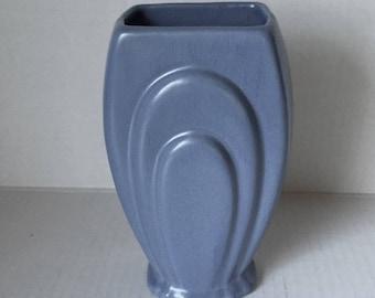 Vintage Padre Pottery Vase, Blue Padre Pottery Flower Vase, Art Deco Vase