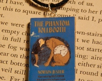 The Phantom Tollbooth Book Necklace, Brooche, or Keychain