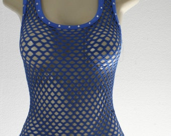 Exotic Dancewear Royal Blue one piece