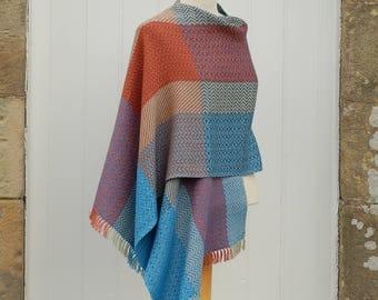 Hand woven shawl, linen shawl, weaving, cotton shawl, woven, wrap, Scotland