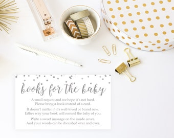 Bring A Book Printable, Baby Shower Invitation Insert, Game, Baby Shower  Printable,
