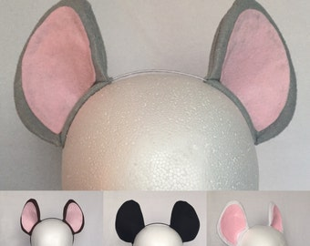 Mouse ears headband 4 colors mouse ears mouse costume ears mouse costume mouse ears big mouse ears mouse cosplay cute mouse ears