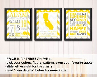 baby birth announcement, Baby Nursery Wall Art with stats PRINT or CANVAS, Birth Stats Baby Nursery Decor, New baby announcement wall art