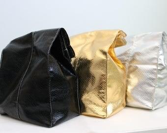 Gold, Silver or Black Metallic Lunch Bag - by ButtermilkCustom