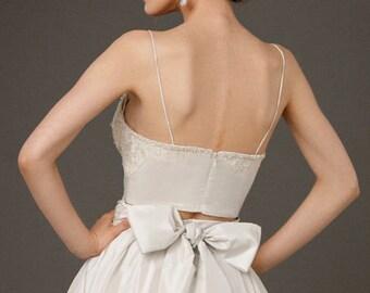 Wedding skirt  Long bridal skirt  Bridal separates  Skirt with pockets  long tafetta skirt Bridal Skirt color tafetta skirt bridesmaid skirt