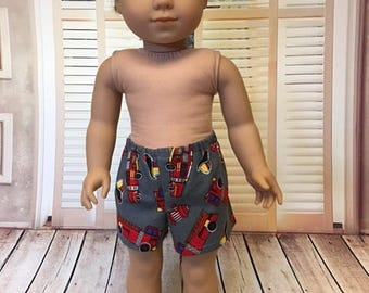 Boxer Shorts fits American Girl Logan and 18 inch dolls