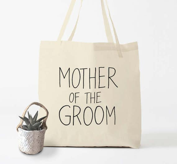 MOTHER of the GROOM, Tote Bag, wedding tote bag, gift for the mother of the groom, groom's mother, wedding idea, wedding gift, cotton bag.