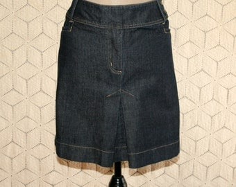 Short Denim Skirt XL Size 16 Womens Plus Size Jean Skirt Casual Plus Size Clothing Womens Clothing