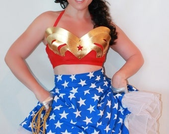 Classic PIN UP Wonder Woman Skirt with Petticoat