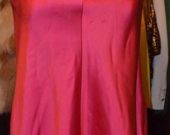 1950s/1960s Vintage Hot Pink Mod Dress