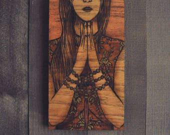 Never Ending Circles - Original Hand Made Wall Decor Pyrography Wood Burning by Stephen Willey of Eyes On Fire