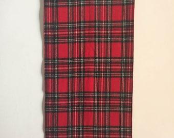 Scarf Plaid Scarf Tartan Plaid Scarf Vintage Scarves Red Scarf Red Plaid Scarf Wool Scarf Cashmere Scarf Plaid Scarf Gift Ideas