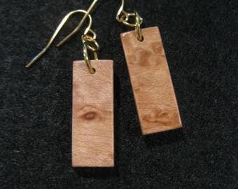 Birdseye Maple Earrings