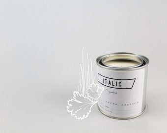 09 // Day Laborer - Half Pint (8oz) Scented Soy Candle in Paint Can (Cilantro and Fresh Cut Grass)