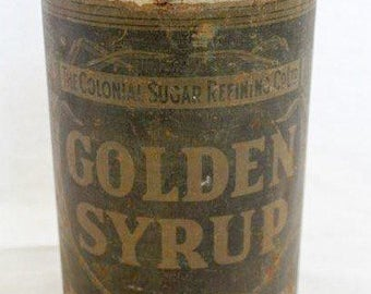 Vintage 1930s The Colonial Sugar Refining Company 7lb Golden Syrup Tin Rare Collectable Australian