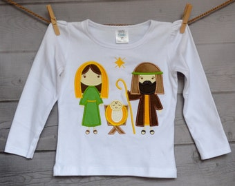 Nativity JESUS is the Reason Applique Shirt or Onesie Boy or Girl Choose your color!