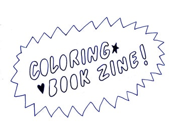 Coloring Book Zine