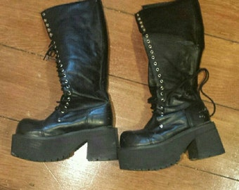 Rare 90s goth hot topic boots