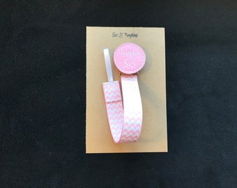 Little Sis Paci Clip, Little Sis Baby Gift, Little Sis Pacifier Clip, Little Sister Binky Clip, Little Sis Shower Gift, Little Sis Feltie