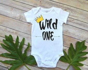 Wild ONE, Wild Things Birthday, 1st Birthday shirt, Wild things Party, Wild Things shirt Wild Things Bodysuit,Boy Birthday, Wild one shirt