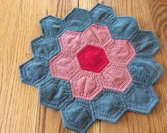 Flower Garden Candle Mat
