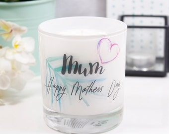 Personalised Tropical Mother's Day Scented Candle