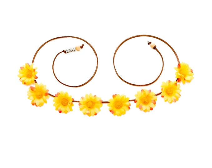 Autumn Daisy Flower Crown