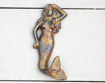 Beach Decor Mermaid Hook / Nautical Towel Hook / Cast Iron Hooks / Mermaid Bathroom / Nautical wall hook / Girl room decor / Mermaid Decor