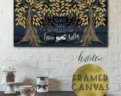 Wedding guest book alternative - Wedding guest book canvas - The first day the yes day - guest book register - rustic wedding décor