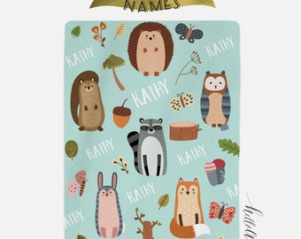 Owl nursery décor - Personalized Baby blanket - Personalized swaddle - Newborn baby boy - Baby blanket personalized - Baby shower gift