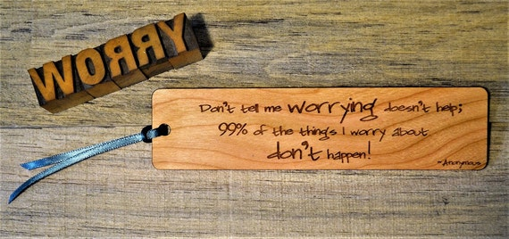 FUNNY BOOKMARKS: Choose from four fun quotes; see list in photos for choices! Each one is engraved on cherry wood, and can be personalized!
