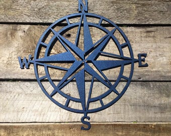 Compass Rose Metal Wall Art | Nautical Compass| Nautical Wall Art  | Compass Rose Metal Wall Art |  Outdoor Metal Art | Compass Wall Decor