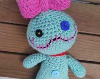 crochet scrump doll - lilo & stitch