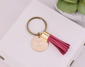 Custom Graduation Gift, Personalized 2017 Keychain, Custom Name Key Chain, Graduation Gift Keychain, Class of 2017, Gift for Grad, Grad Gift