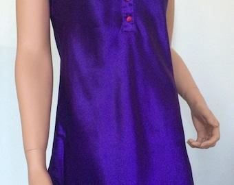 90s purple slip dress