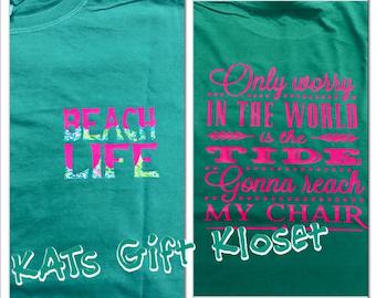 Vinyl beach t-shirt