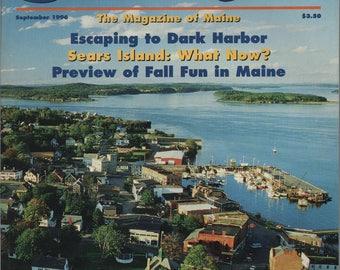 Down East Magazine, September 1996, Russell Pond, Dark Harbor, Sears Island, Eastport, Topsham, Popham, Baxter State Park, Monhegan
